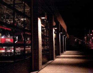 LFD Station 1 at night.